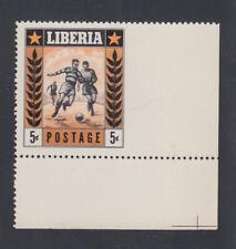 Liberia # 348 Imperf at Right Margin MNH Sports Football Soccer