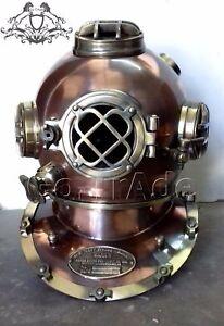 Antique  US Navy Vintage Dive Helmet Mark V Antique Diving Divers Helmet Gift