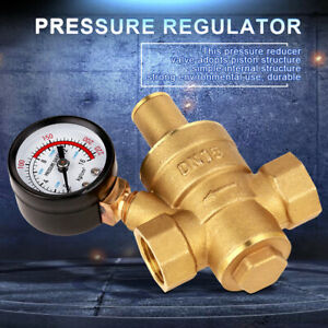 "DN15 Bass Water Pressure Regulator 1/2"" 15mm Adjustable Brass Reducing Valve New"