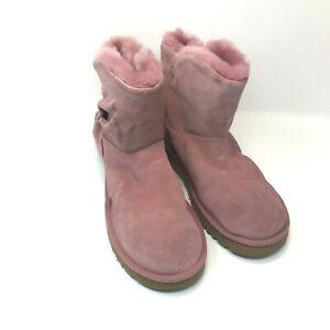 UGG Australia Classic Mini Twist Boots Pink Dawn Suede 1099912 NEW Size 9 BS11