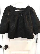 NEW Black Bolero Jacket Dressy Apt 9 Shiny Women's Large NWT Holiday Party