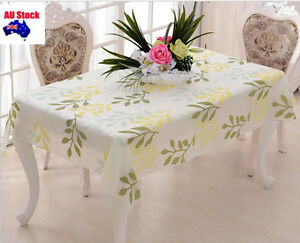 Green Leaf 130x180cm  Rectangle Plastic PEVA Party TableCloth Cover table cloth