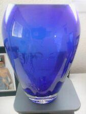 Michael Jackson Blue Etched Vase