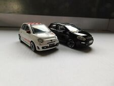 Lot de 2 Fiat / Abarth 500 et Punto evo 1/43 Burago