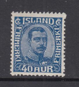 Iceland Sc 124 Christian X 40a Dark Blue F/VF Mint Hinged