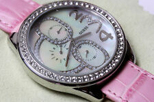 GUESS BIG SIZE STAINLESS STEEL MOTHER OF PEARL DIAL  WOMEN'S WATCH