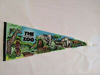 The Philadelphia Zoo Felt Pennant Vintage Souvenir Flag