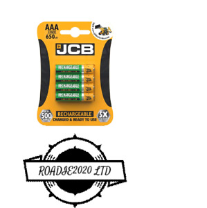 4x JCB Rechargeable NiMH 650 mAh AAA   Battery Pre charged  multi use