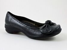 Hush Puppies Women's Ave Slip-On Loafers Black Snake Print Size 5.5 (B, M)