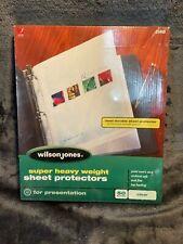 Wilson Jones Super Heavy Weight Top Loading Sheet Protectors Letter Size 50