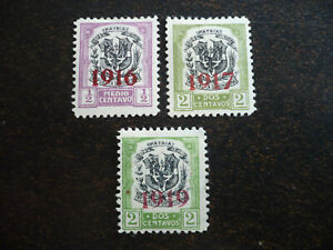 Stamps - Dominican Republic - Scott# 209, 215, 219 - Overprinted