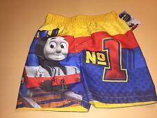Thomas & Friends Toddler Boy Swim Trunks Shorts Bathing Suit New 2T UPF 50+