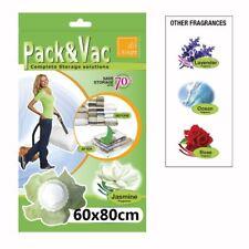 Vacuum Scented Plastic Space Saver Bag Compressed Storage Pack Vac 60 x 80cm
