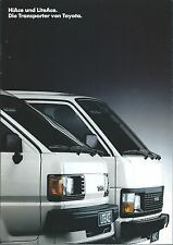 Auto Van Truck Brochure - Toyota - HiAce LiteAce - GERMAN prospekt c1989 (T2140)