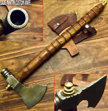 LOUIS MARTIN HAND FORGED DAMASCUS STEEL PIPE TOMAHAWK KNIFE,HATCHET,AXE,INTEGRAL