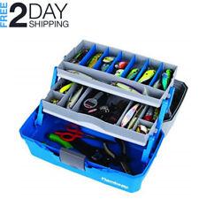 Tackle Box Fishing Kit 2 Tray Storage Fishery Accessories Bait Jigs Hooks Floats