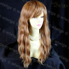 Beautiful Long Blonde Mix Auburn Heat Resistant Hair Ladies Wig From WIWIGS UK