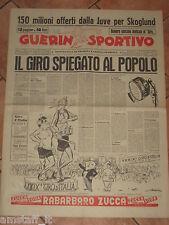 GUERIN SPORTIVO 1956/21 IL GIRO D'ITALIA SPIEGATO AL POPOLO