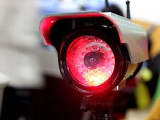 Solar Powered Security CCTV Camera Red Blinking LED Fake Dummy Webcam
