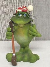 "Frog Golfer Figurine. 2-1/8"" Tall x 1-3/8"" Wide by Douglas"