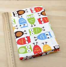 One PCS Cotton Fabric Pre-Cut Cotton cloth Fabric for Sewing Owl Fabric D009