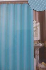 "Waffle Weave Blue Fabric Shower Curtain 70"" x 72"" NIP"