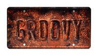 Ash vs Evil Dead | Ash's Oldsmobile | GROOVY | Metal Stamped Prop License Plate