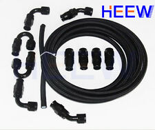 AN8 8-AN Teflon Braided OIL FUEL Line E85 PTFE Hose + fitting End Adaptor 5M B