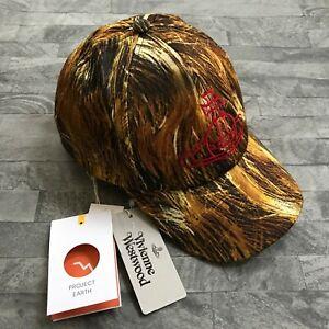 VIVIENNE WESTWOOD HAIR PRINT & ORB LOGO BASEBALL CAP RETAIL £165 MADE IN ITALY
