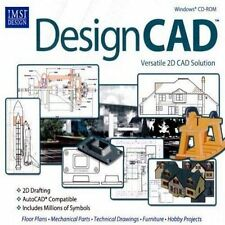 IMSI DesignCAD 22 AutoCAD 2D CAD Design PC Windows  XP Vista 7 8 10 Sealed New