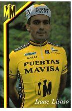 CYCLISME carte cycliste ISAAC LISASO équipe PUERTAS MAVISA
