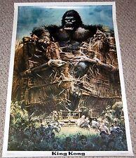 KING KONG Breaking Village Wall Poster 1976 Dargis 3420 De Laurentiis Movie