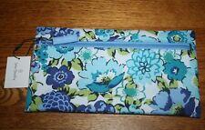Vera Bradley Lighten Up Pencil pen Pouch case Blueberry Blooms Blue  4 backpack