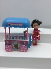 Doll And Ice Cream Cart Shop Playset Cones Popsicles Register 4� Girl Accessory