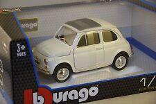 Burago 12020WH - FIAT 500F 1965 BLANCHE  1/18 BBURAGO