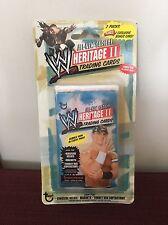 2006 WWE WWF Topps Heritage II Trading Cards 2 Unopened Packs Plus Bonus Card