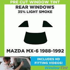 Pre Cut Window Tint - Mazda MX-6 1988-1992 - 35% Light Rear