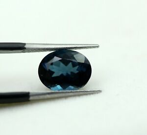 3.34 Ct Swiss Blue Color Natural London Topaz Oval Loose Gemstone Certified