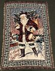 """Vintage 66"""" Coming Home Santa Clause Saint Nick Merry Christmas Tapestry Throw"""