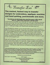 Transfer Eze  - for use when transferring designs for embroidery & more