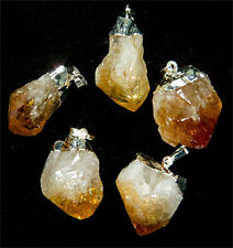 Silver Plated Citrine Point Pendant (PT42BT)