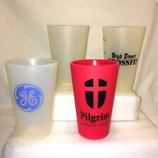 Lot of 4 SILIPINT Silicone Drinkware Pint Tumblers 16 oz General Electric Others