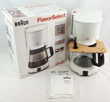 NEW Vintage BRAUN Flavor Select White 12 Cup Coffee Maker KF152 Made in Germany