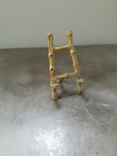 Vintage Faux Gold Bamboo Easel Place Card Holders or Small Photo Stand