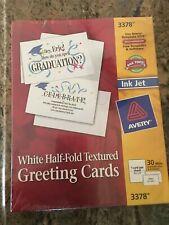 "Avery White Textured Greeting Cards & Envelopes, 5 1/2"" x 8 1/2"", 3378, 30 / Box"