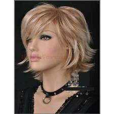ZJF22  new style blonde mix short straight health hair wigs for women WIG
