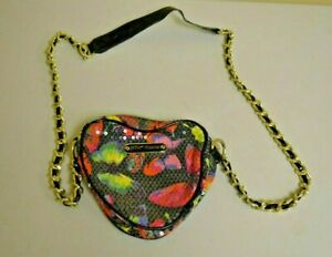 Betsey Johnson Cross Body Bag Heart Shaped Sequins 7X7 Size USED
