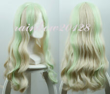 "24"" Diana Caverndish Little Witch Academia Beige Interval Wavy Anime Cosplay Wig"