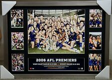 WEST COAST EAGLES 2006 AFL PREMIERS PREMIERGRAPH COLLAGE PRINT FRAMED JUDD