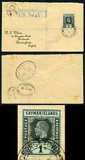 Cayman Is KGV 1915 1/- on Registered Wilson cover